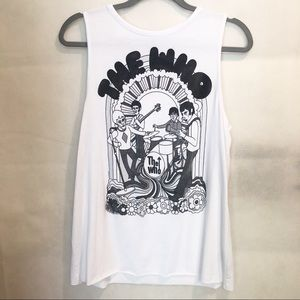 Bravado The Who Distressed Band Muscle Tee